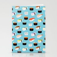 sushi Stationery Cards featuring Sushi! by Sara Showalter