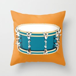 Drum - Orange Throw Pillow