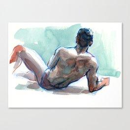 MICHAEL, Semi-Nude Male by Frank-Joseph Canvas Print