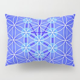 Flower Of Life - Blue Pillow Sham