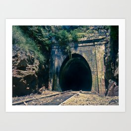 Train Tunnel Entrance #2 Art Print
