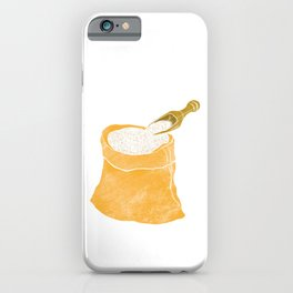 Watercolor Illustration of A bag of rice iPhone Case