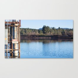 Utility pipe for Electricity, Kunkle Reservoir Canvas Print