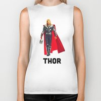 thor Biker Tanks featuring Thor by Marianna