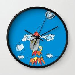 Rocket to the Moon Wall Clock