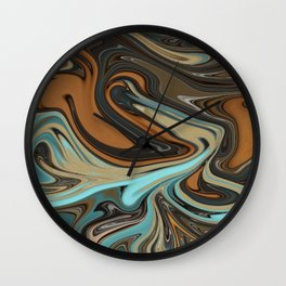 River flow Wall Clock