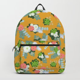 Rustic flowers in yellow Backpack
