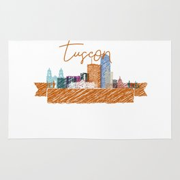 Cool Tucson skyline design Rug