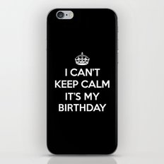 Keep Calm Birthday Quote iPhone & iPod Skin