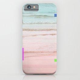 #glitch in beach iPhone Case