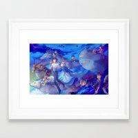 ghibli Framed Art Prints featuring Ghibli sky by hasu
