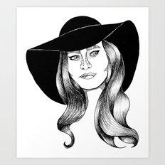 belle fille d'or Art Print