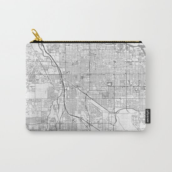 Tucson Map Line Carry-All Pouch
