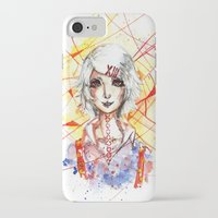 tokyo ghoul iPhone & iPod Cases featuring Tokyo Ghoul - Juuzou Suzuya by Kayla Phan