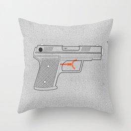 Water Gun Throw Pillow