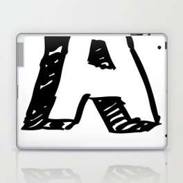 A Letter as Marker Sketch in Black Laptop & iPad Skin