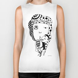 The Heart Sutra Biker Tank