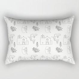 Dwellings of Goliad Rectangular Pillow