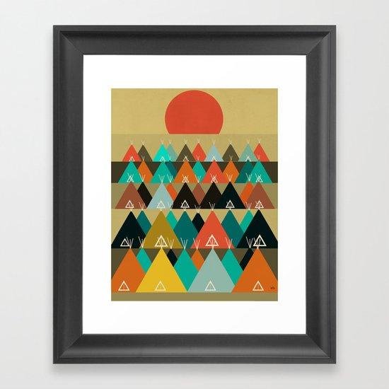 Tipi Moon Framed Art Print
