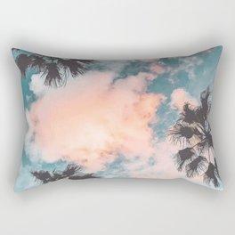 Palms and Pink Clouds Rectangular Pillow