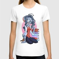 bookworm T-shirts featuring Bookworm Chinchilla by Digitoonie