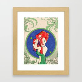 Poison Ivy Art Nouveau Framed Art Print