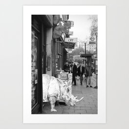 Rhino in Camberwell London Art Print