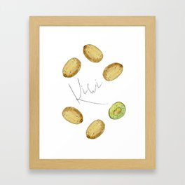 Kiwi mood Framed Art Print