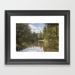Early Autumn Reflections Framed Art Print