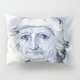 """Jacques Le Boucq """"Portrait of Hieronymus Bosch""""(c. 1550) watercolor Pillow Sham"""