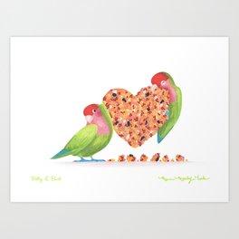 Betty & Burt Art Print