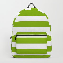 Spring Fresh Apple Green & White Stripes - Mix & Match with Simplicity of Life Backpack