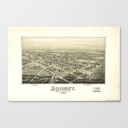 Aerial View of Sunset, Texas (1890) Canvas Print