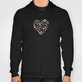 Distressed Hearts Heart Black Hoody