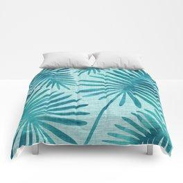 Mid Century Tiki Fronds Comforters