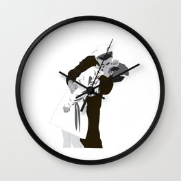 kissing the war goodbye 1945 Wall Clock