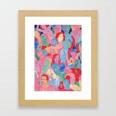 Alien Party Hard Framed Art Print