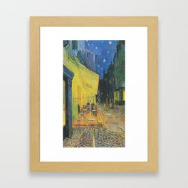 Vincent can Gogh's Cafe Terrace at Night Framed Art Print