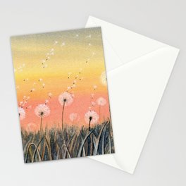 Up, Up and Away - Dandelion Watercolor Stationery Cards