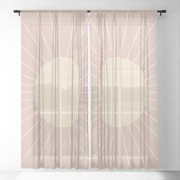 Minimal Sunrays - Neutral Pink Sheer Curtain