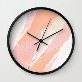 Creamsicle Abstract Wall Clock