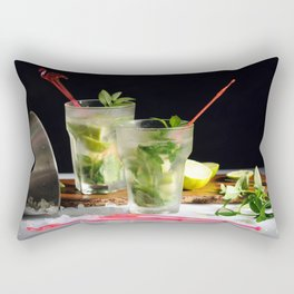 Mojito cocktails Rectangular Pillow