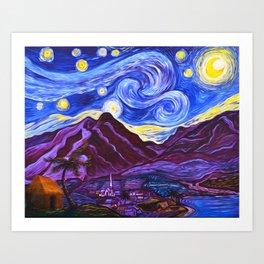 Maui Starry Night Art Print
