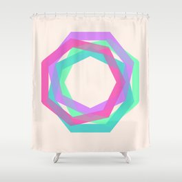 geo particles Shower Curtain