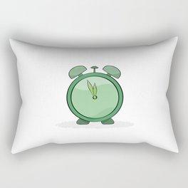 green alarm clock Rectangular Pillow