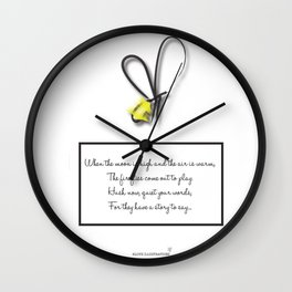 Firefly Night Wall Clock