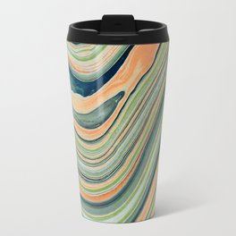 Watercolor marble waves Travel Mug