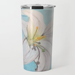 Easter Lilly Cross Travel Mug