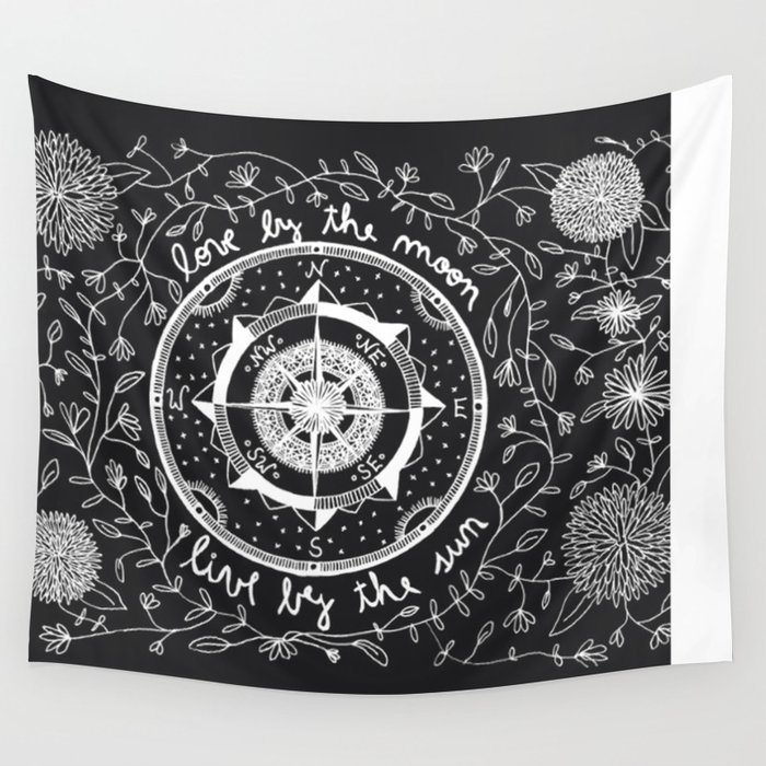 Live By The Sun Love Moon Wall Tapestry