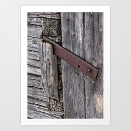 Weathered Barn Door Latch Detail Art Print